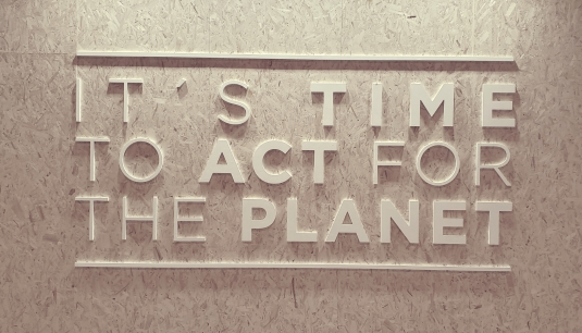 It's Time to Act for the Planet sign